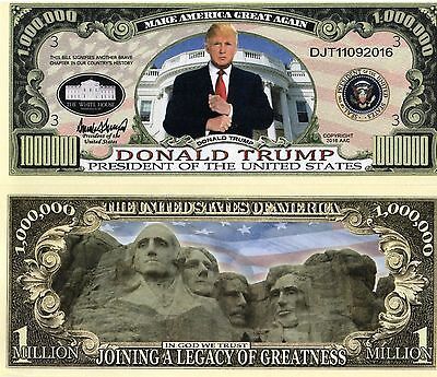 President Donald Trump Million Dollar Bill