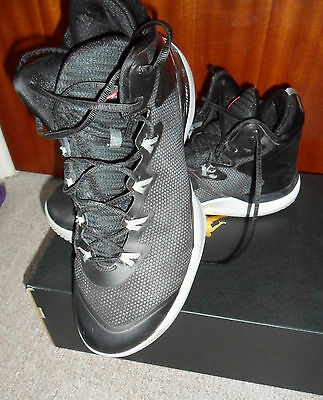 Jordan Superfly 3 -- Size Uk 9-- Black Basketball Shoes/trainers (Eur 44)