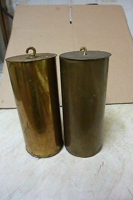 2 Vienna Regulator Brass Cased Weights (G)