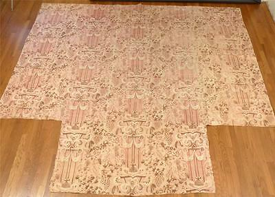 "Very Early Antique Chintz Quilt wIth ""Cut-outs"" for a Four Poster Bed, c.1830-40"