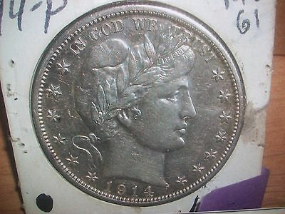 1914(p) Barber Liberty Head (RARE) Lowest-mintage 124,230)