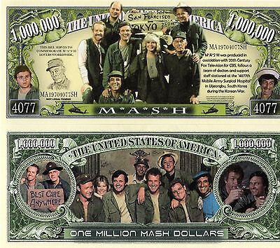 M*A*S*H  -  4077 - TV Series Million Dollar Novelty Money