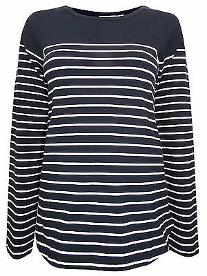 Jojo Maman Bebe Maternity Black Stripe Long Sleeve Top Size 8 10 12 14 16 18 New