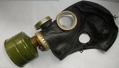 RUSSIAN ARMY RUBBER GAS MASK RESPIRATOR GP-5M Black Military  new