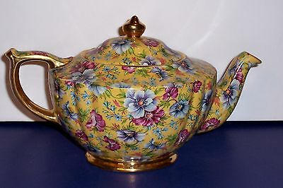 James Saddler Sophie Chintz 4 Cup Tea Pot Made In England  Free Ship