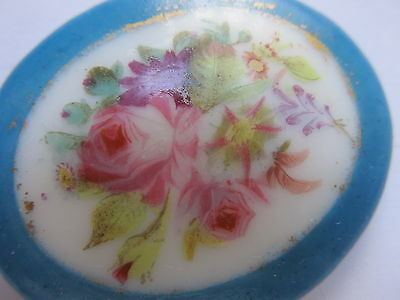 Antique Vintage 19Th Century Plaque,rose Garlands, Hand Painted, Sevres - French