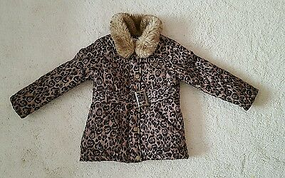 Matalan girls coat, animal print, age 3