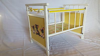 Original Cass Vintage Antique Doll Crib | Toy Kids Baby Girl Casters Wheels Old