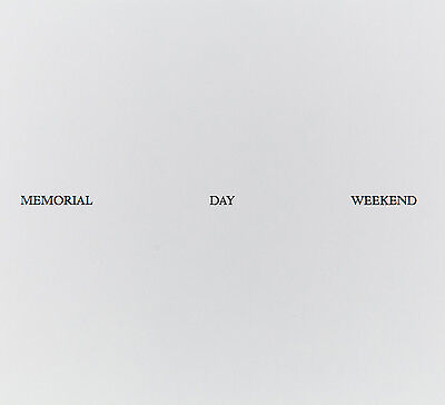 "Felix Gonzales-Torres ""MEMORIAL DAY WEEKEND"" rare multiple 1989 off-set litho"