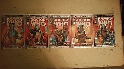 Doctor Who Supremacy Of The Cybermen - 1 2 3 4 5 Complete Set  -  Boarded