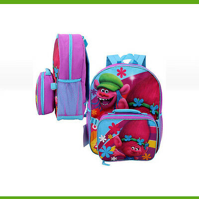 "Trolls Backpack with Lunch Bag - 16""H"