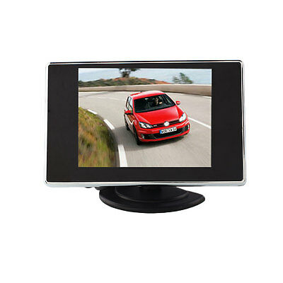 TFT LCD Color 3.5 Inch Screen 2 Channel Video Input Car Rearview Monitor