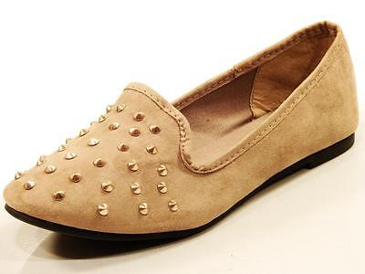 Womens Wholesale Shoe Lot 13 Pairs New In Box Tan Taupe Studded Flats Slip Ons