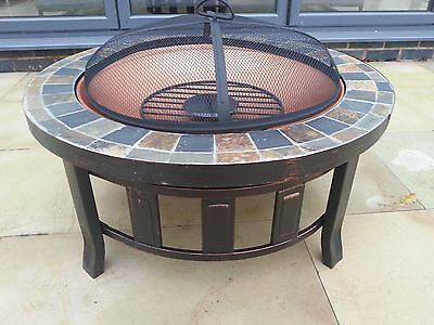 Fire Pit Decking Heater tiled Patio Firepit Brazier Wood Burner Rain Cover Pvc