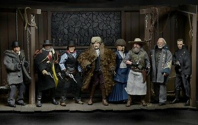 """NECA COMPLETE SET The Hateful Eight 8"""" Clothed Action Figures"""