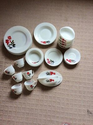 """Vintage JAJ Pyrex """"June Rose"""" Collection of 8 Types of dishes etc."""