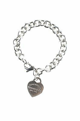 Tiffany & Co. silver heart tag bracelet Size S