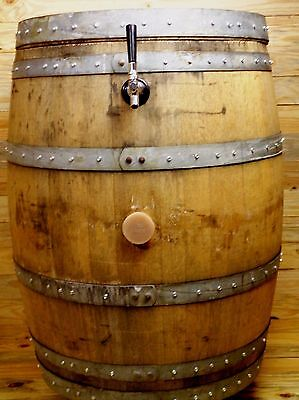 Oak Barrel Coldest Beer Kegerator Dispenser Machine Draft Tap Cooler Home Bar