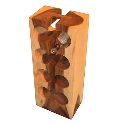 Teak Wooden Tree Wine Bottle Rack Intro 8 Hole Furniture 27x20x70cm Natural