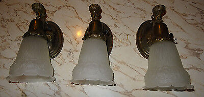 3 Antique Hanging Wall Sconces