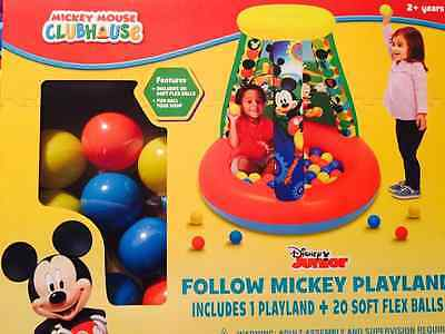 Mickey Mouse Clubhouse Inflatable Ball Pit with 20 Soft Flex Balls