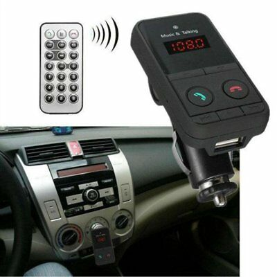 Wireless Bluetooth Fm Transmitter Dual Car Charger Handsfree For Mobile Phones