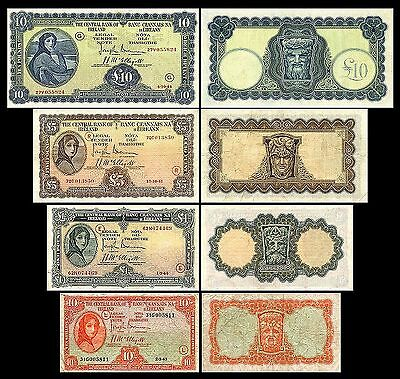2x 10 Shillings, 1, 5, 10 Irish Pounds - Issue 1943 - 1944 - 8 Banknotes - 05