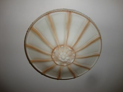 "Antique Hand Painted Ceiling Fixture Excellent 10"" diameter"