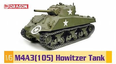 Dragon Models #75046 - HUGE 1/6 scale M4A3 Sherman Tank with 105mm - Brand NEW!