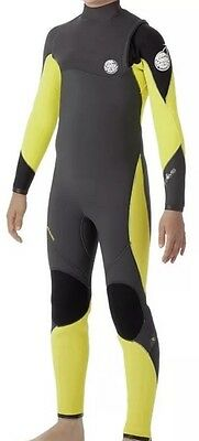 RIP CURL Youth 4/3 FLASH BOMB Zip Free Wetsuit - CHA - Size 16, 10 Other