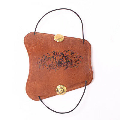 Archery Accessory Brown Cow Leather Arm Protector Arm Guard for Shooting