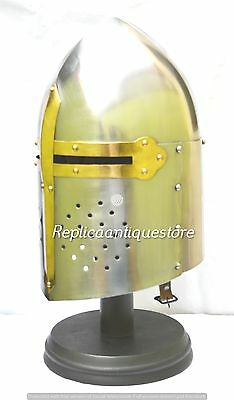 Medieval Suger Loaf Armour Helmet-Roman Knight warrior Helmets With Inner Liner