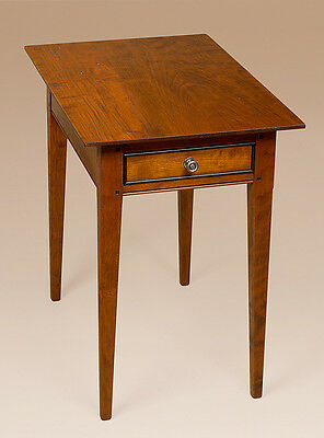 Cherry Wood Shaker Stand - Early American Style End Table - Bedroom Furniture
