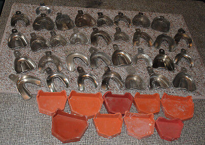 Vintage Lot Of Dental Impression Trays And Related