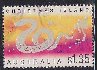 (AUP-134) 2001 Christmas Island $1.35 year of the snake