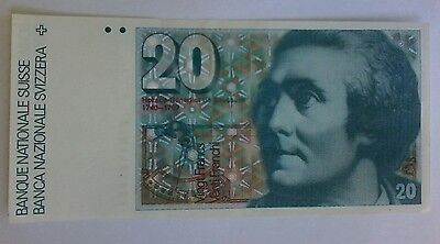 switzerland 20 francs swiss currency bank note bill