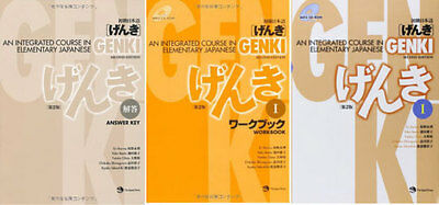 3-7 Days to USA. GENKI Integrated Course Elementary Japanese Work And Text 3 Set