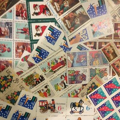 $40 face CHRISTMAS Stamps 4 Cent to FOREVER Dress Up Your Holiday Mail