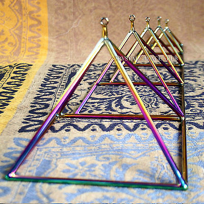 "Colorful Quartz Crystal Singing Pyramid 7"" Crystal Singing Bowl"