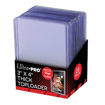 "Ultra Pro 3"" x 4"" 55pt Thick Top Loader Card Protectors - Packet of 25"
