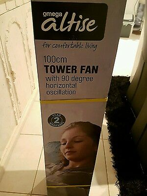 Omega Altise 100cm Tower Fan With Remote