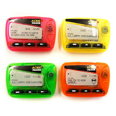 """Acme Novelty Pink, Yellow, Orange, Green Pager Magnet With Sound """"Brand New"""""""
