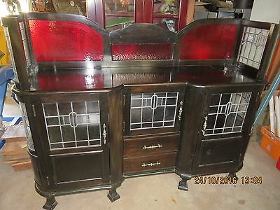 Sideboard/China Cabinet with Leadlight Panels