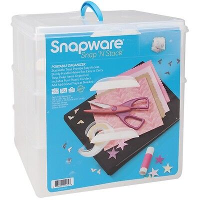 "Snap 'N Stack Craft Organizer Large Square 3 Layers-14""X12.5""X13"""