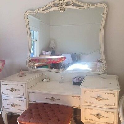 Antique French Provincial Vintage Shabby Dressing Table