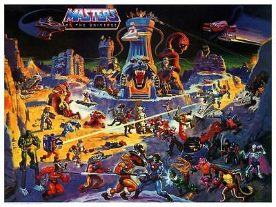 He-Man POSTER Eternia Map  NO TEXT Masters of the Universe **VERY LARGE** He Man