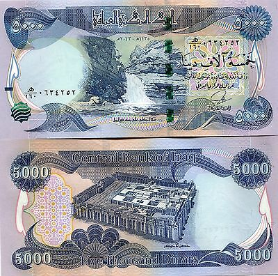 5000 New Iraqi Dinars 2014 (2013) with New Security Features - IRAQ DINAR UNC