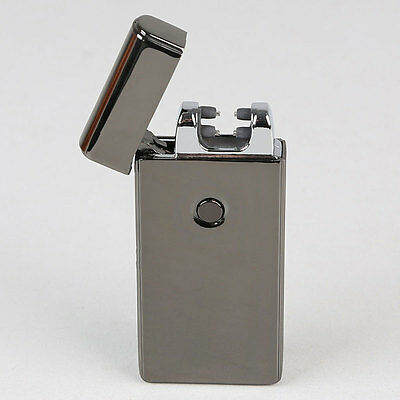 Rechargeable Double ARC USB Electric LIGHTER PULSE Flameless Plasma Torch Black