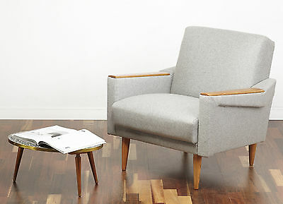 Post-1950 50s 60s COCKTAIL CLUB CHAIR VINTAGE MID CENTURY MODERN ARMCHAIR RETRO