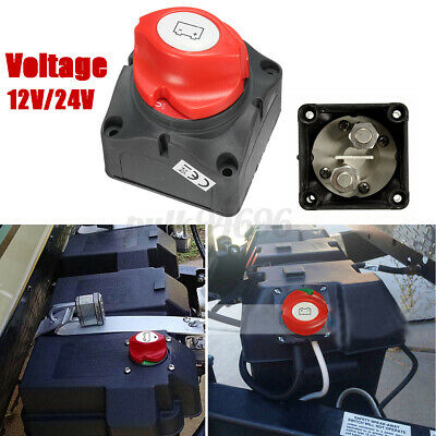 Marine Removable Battery Isolator Cut Off Power Kill Switch On Off 12V/24V AU